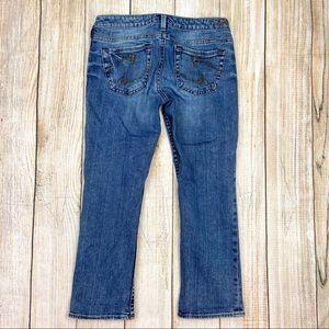 SILVER JEANS Blue Alex Capri Cropped Jeans Denim